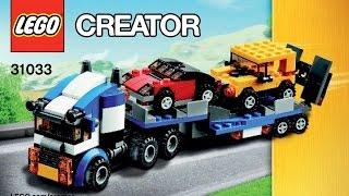 LEGO 31033 Vehicle Transporter Instructions LEGO CREATOR 3 in 1 2015