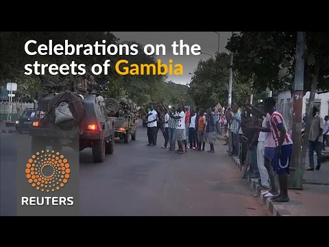 Gambians celebrate as West African troops enter capital