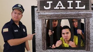 Funny Aunties & Uncle Gets LOCKED UP in Pretend Jail