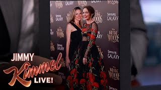 Emily Blunt's Photo Shoots Invaded by Jimmy Kimmel's Wife