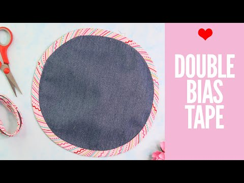How to Sew DOUBLE BIAS TAPE  – For Beginners