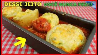 BATATA DESSE JEITO VOCÊ NUNCA FEZ!!! RECHEADA E DE FORNO!!!