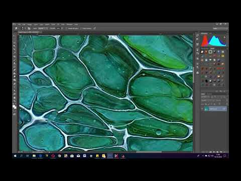 ( 734 ) How to clean up a scanned painting in Photoshop