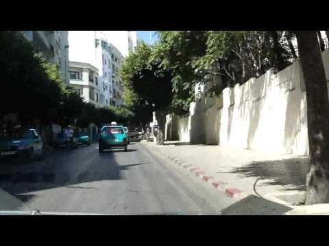 A Car Drive through Tangier / Morocco (HD)