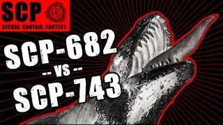 TheVolgun collab SCP-743 vs SCP-682 illustrated
