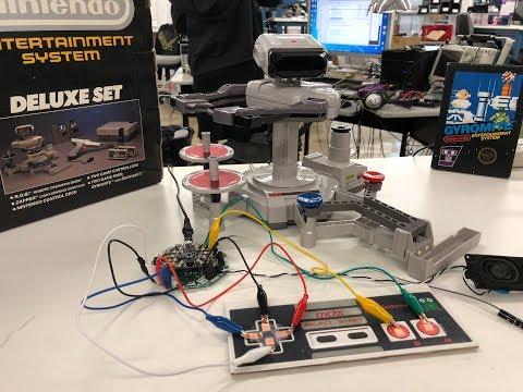 CRICKIT R.O.B. (Robotic Operating Buddy) GyroBot @adafruit @NintendoAmerica #crickit #adafruit