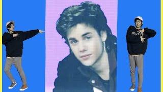 Dancing to 80's Justin Bieber music