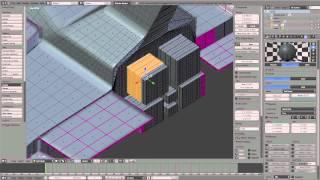 Blender Space Ship Model Time Lapse