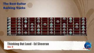 Thinking out Loud - Ed Sheeran Guitar Backing Track scale map / Chart