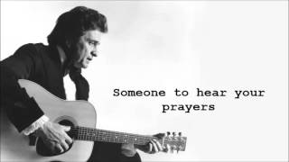 """Johnny Cash """"Personal Jesus"""" (Depeche Mode Cover) - with Lyrics on Screen"""
