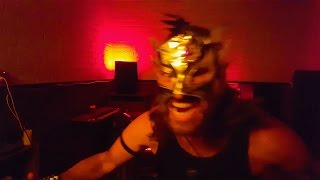 Lucha crazy Wrestler attacks and plays Organ with electricity