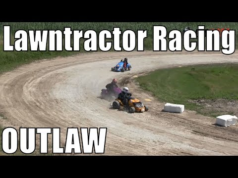 Outlaw Class Lawntractor Racing At Western Ontario Outlaws July 7 2019 - Round 2