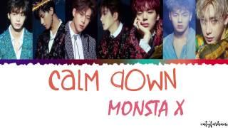 MONSTA X (몬스타엑스) - CALM DOWN Lyrics [Color Coded_Han_Rom_Eng]