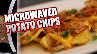 Superbowl Snack #3:  HOW TO MICROWAVE POTATO CHIPS Recipe  |  HellthyJunkFood