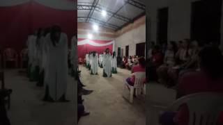 """Coreografia do Hino """" Adorarei"""" de Fabiana Anastácio."""