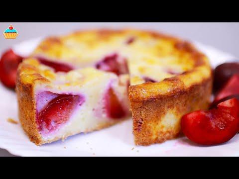 Творожный пирог со сливами - ну, оОчень вкусный! Чизкейк в духовке.