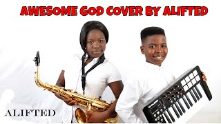 Awesome God by Hillsong,  Gospel music saxophone mix 2015 at its best width=