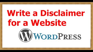 How to Write a Disclaimer for a Website Wordpress width=