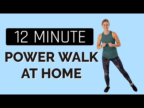 12 Minute Power Walk At Home Workout- Workout In A Mirror