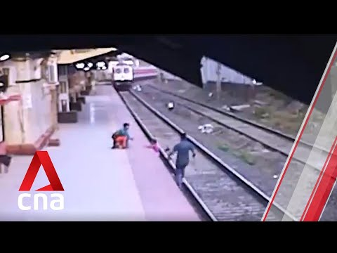 Railway Worker Saves Boy From Oncoming Train in Dramatic Rescue in India