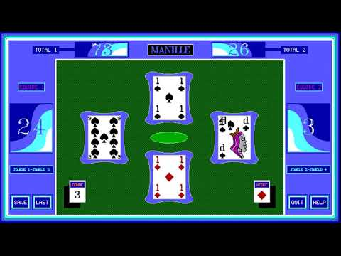 La Manille (Thierry Verriez) (MS-DOS) [1994] [PC Longplay]