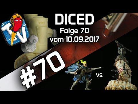 DICED - Die Tabletopshow auf Rocketbeans TV #70 | Runewars | Airbrush | Tobsen77 | DICED