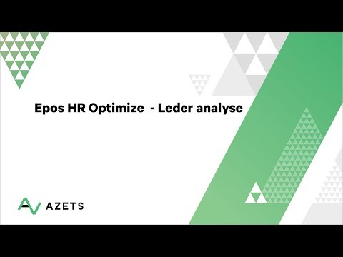Epos HR Optimize - Leder analyse