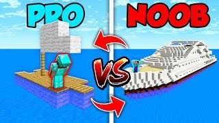 Minecraft NOOB vs. PRO : SWAPPED BOAT LIFE in Minecraft (Compilation)