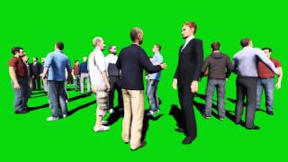 1 Crowd Green Screen and Crowd Talking Sounds