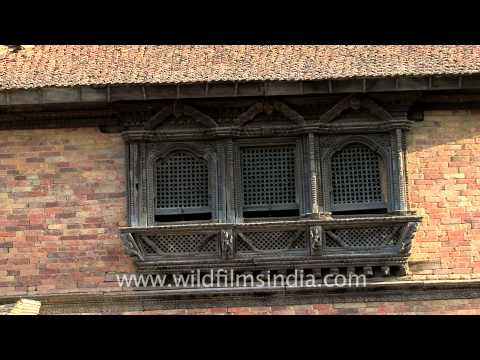 Patan city's lovely old windows