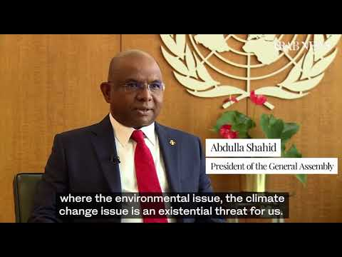 Part 4   Climate and women's rights high on agenda for new UN General Assembly chief Abdulla Shahid