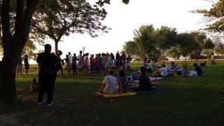 Dança de roda em Paquetá OPAM 03/07/2016