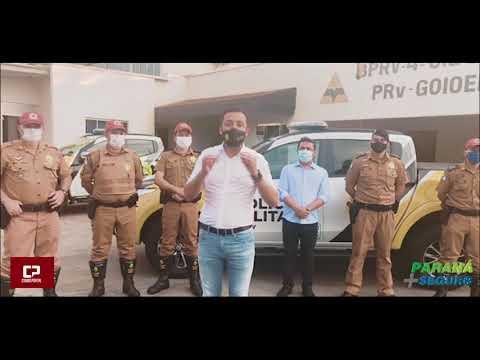 Posto Policial Rodoviário de Goioerê recebe viatura nova do Governo do Estado - Cidade Portal