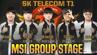 SKT T1 MSI 2019 MONTAGE - BEST OF SKT T1 in MSI GROUP STAGE