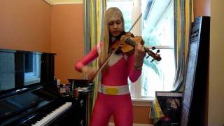 Lara plays the Mighty Morphin Power Rangers theme song IN COSTUME