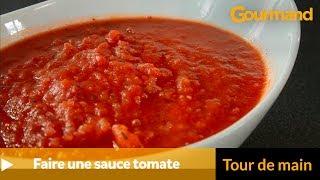 Comment faire une sauce tomate ?