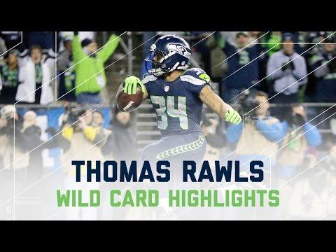 Thomas Rawls Sets Seahawks Postseason Rushing Record! | NFL Wild Card Player Highlights