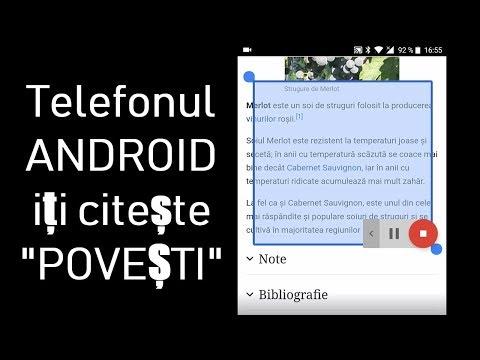 TELEFONUL ANDROID IȚI CITEȘTE ORICE TEXT