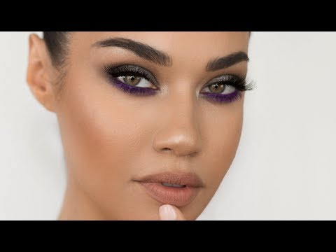 Gunmetal Purple Smokey Eye Makeup Tutorial | Eman