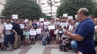Concentración  de musulmanes residentes en Albacete en contra del terrorismo