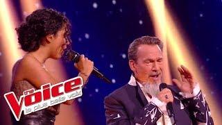 Lucie et Florent Pagny - « J'oublierai ton nom » (Johnny Hallyday) | The Voice France 2017 | Live