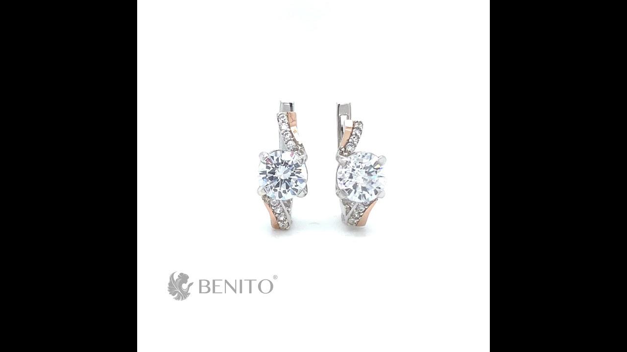 Jessica Earrings White Zircon Stones