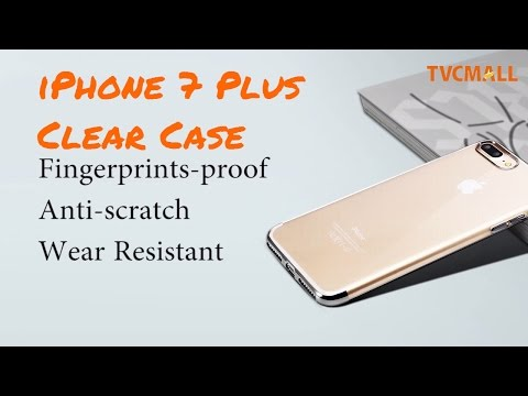 Shining Series Clear & Slim TPU Case for iPhone 7 Plus Jet Black Transparent Cover  - TVC Mall