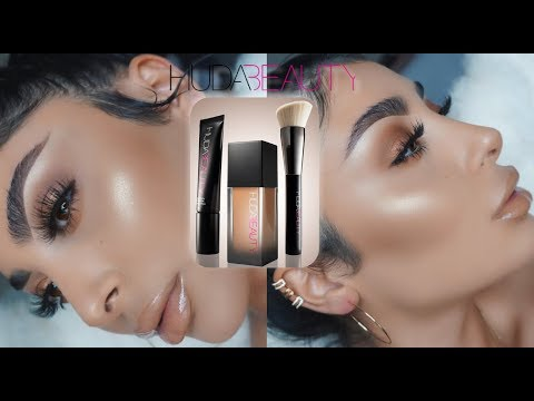 "BEST FOUNDATION EVER"" HUDA BEAUTY FAUX FILTER REVIEW I Nina Vee"