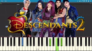 Chillin' Like A Villain - Piano Tutorial - Descendants 2 OST