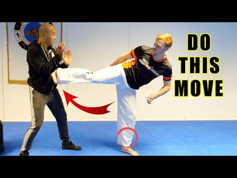 How to do the powerful side Kick | Master Wong - GNT