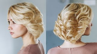 Easy hairstyles for blond short hair | Updo for Short Hair