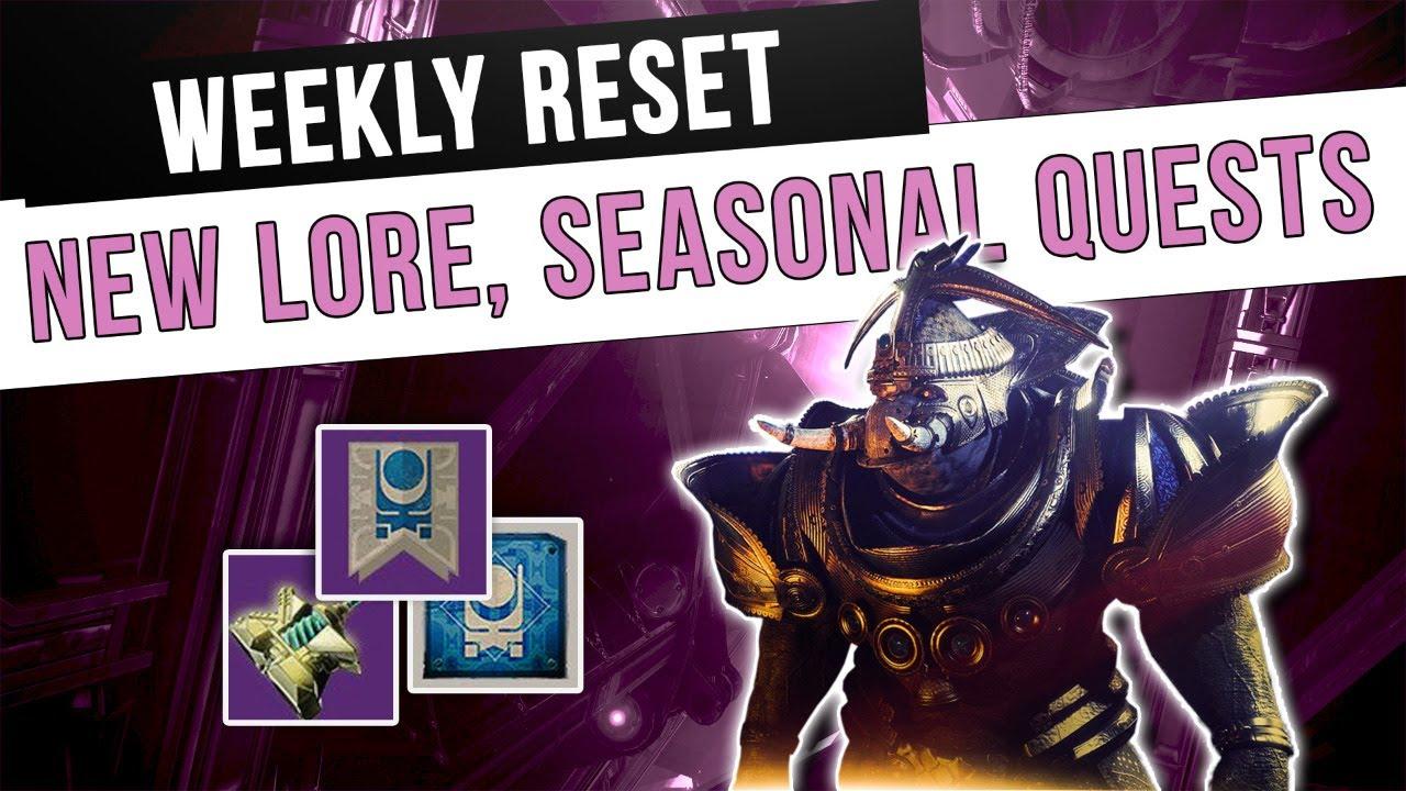 New Lore, New Seasonal Challenges, Double Loot Nightfall   Destiny 2