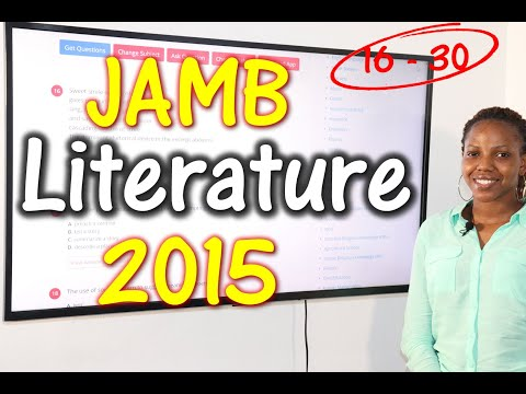 JAMB CBT Literature in English 2015 Past Questions 16 - 30