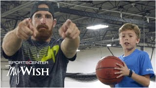 My Wish: Dude Perfect performs trick shots with 11-year-old Nolan | SportsCenter